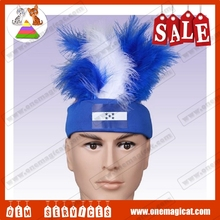 Cheap popular customized national flag pattern otherness brushead wigs for football fans