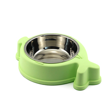 Best quality custom stainless steel&ABS water dog large pet feeder bowl