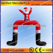 Hot-selling christmas decoration inflatable christmas snowman with candy cane