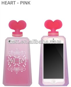 New Lovely Perfume Bottle Silicone Phone Case Cover For iPhone 5 5s