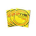 Tyre Three Edges Heat Seal Aluminum coated Plastic Bag Pouch for Industrial Use