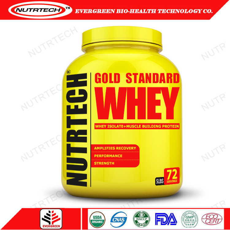 Whey protein isolate gold standard powder with PDA CQC QAC certification etc.