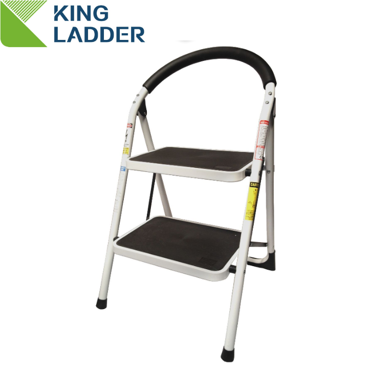 two step library indoor modern steel ladder chair with handle