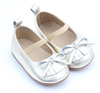 Wholesale Genuine Leather Bow Soft Sole Baby Shoes Toddler Girls Dress Shoes