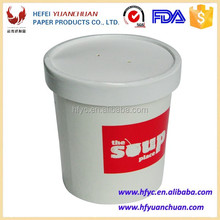 China supplier Custom printed disposable soup container cup with paper lid