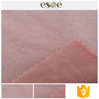 Super soft cheap plain colored double knit fabric jersey