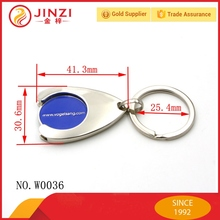 JINZI 20 Years Experience Customized Trolley Coin Metal Key Chain Coin Holder Die-casting metal coin holder