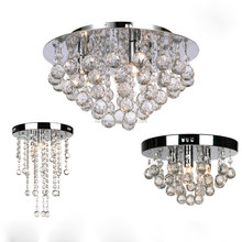 OEM design modern style crystal ceiling lamp led chandelier light for living room