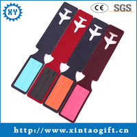 Leather airplane shaped luggage tag manufacturer in China