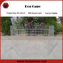 China Manufacturer Various Specification Silver Steel Material Galvanized Dog Crate