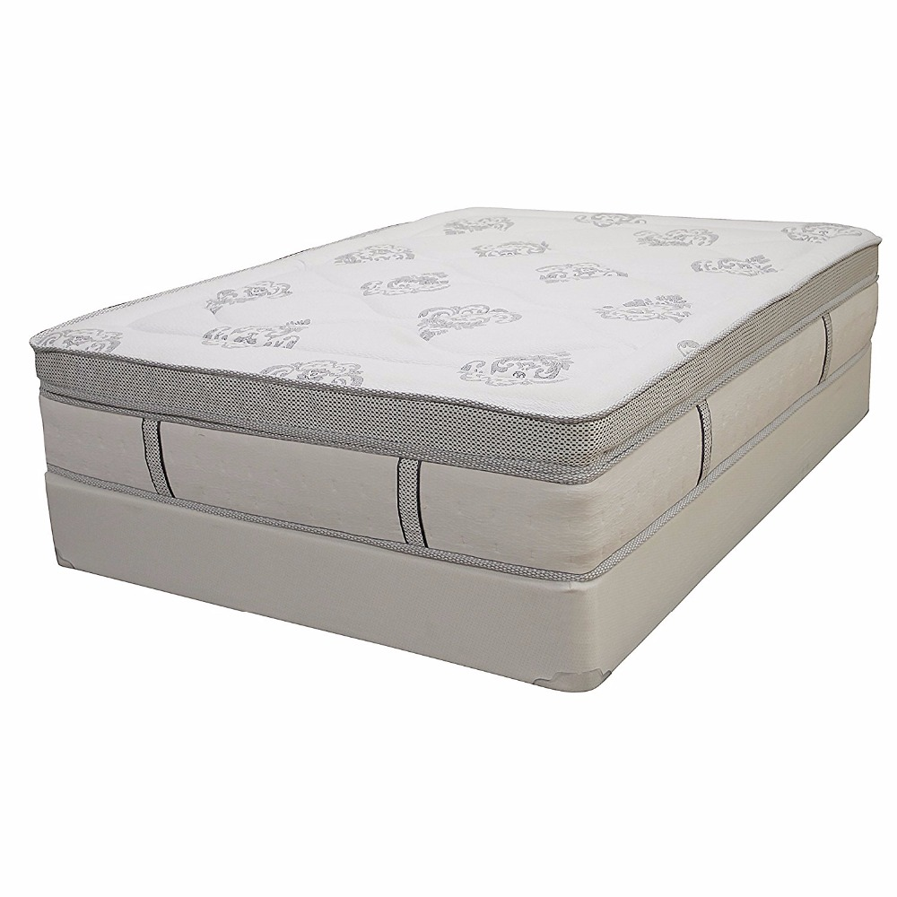 Euro-Top Cool Gel Memory Foam and Innerspring Hybrid 14-Inch Mattress, Queen