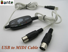 Plug & Play USB to MIDI Cable for Music Keyboard Interface Adapter