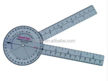 Excellent quality medical 12INCH GONIOMETER ruler,pvc medical ruler ,plastic ruler
