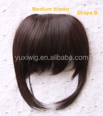 2016 Clip on Hairpiece Fringe Hair Bangs, Real 100 Human Hair Bangs