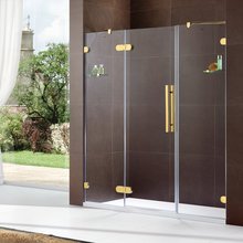 HS-OEM-B indoor frame smart glass sliding door cheap shower screen