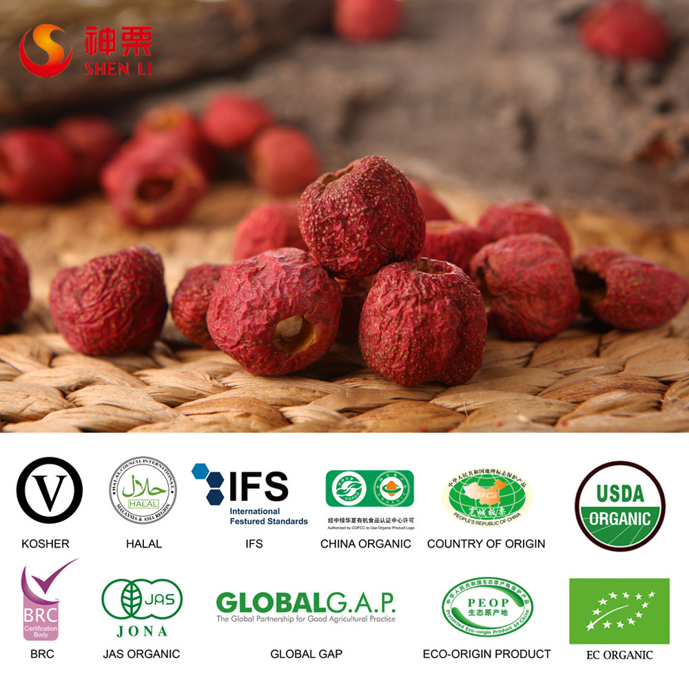 Freeze Dried Pitted Organic Whole Hawthorn Berry