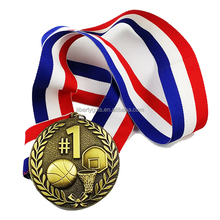 3d antique basketball metal medals