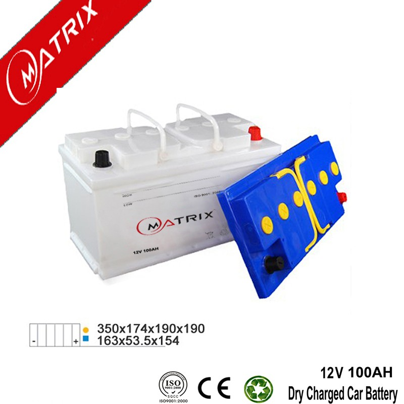 Europe Type DIN100 MF Auto Rechargeable Battery 12V 100Ah