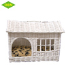 Wholesale cheap colored indoor wicker rattan pet cat house