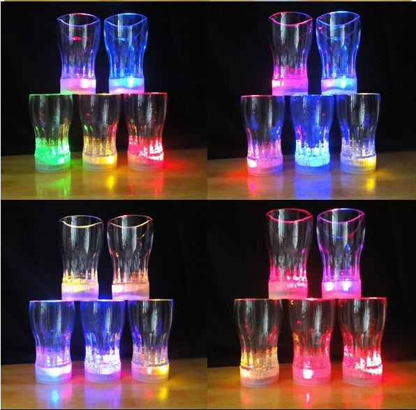 Flash Cup Vase Glass LED Cups Wine Glass For Party Lighting Up Cups Bar Supplies