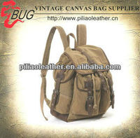2013 Hot Selling Classical heavy canvas backpack for men/Cotton fabric canvas satchel rucksack dayback wholesale European