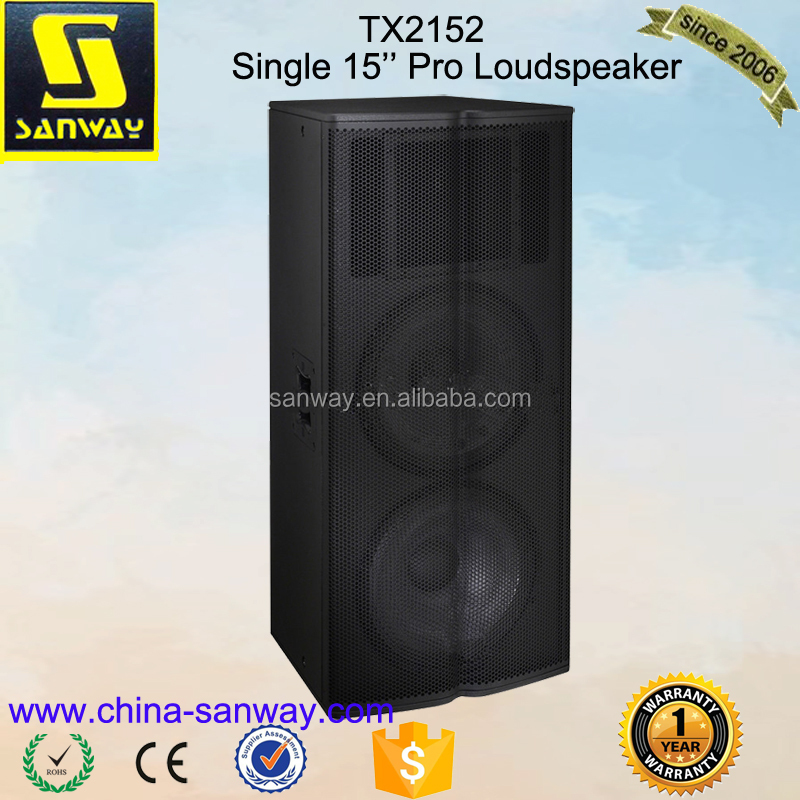 Dual 15'' Two Way Full Range Speaker, Audio Center File Speaker