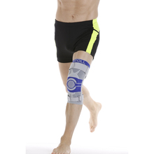 high quality blue knee brace for sport adjustable spandex nylon knee support