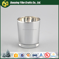 Silver glass candle holder cup for 2016 decoration