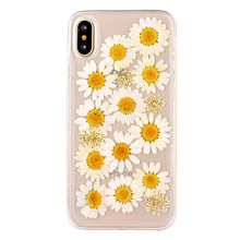 Soft TPU Gel Real Dried Pressed Flower Phone Case For IPhone 5 6 7 8