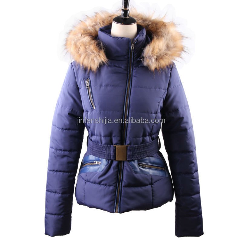 New design ladies mature coat formal jacket for women with belt