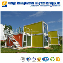 Economical Solid Beautiful Prefab Container House in Beach Side