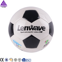 Promotional wholesale classic black and white survetement leather football