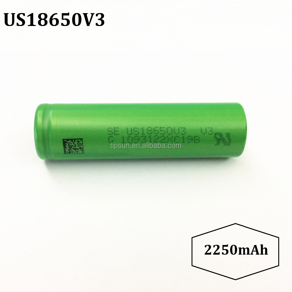 High Quality US18650V3 2250mAh Rechargeable Li-ion Battery