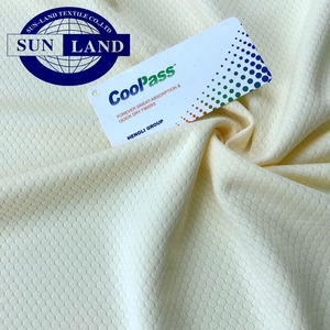 100 polyester knit dry fit hexagon mesh fabric for sportswear and T shirt