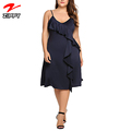 Womens Sexy Spaghetti Strap Slip Dress Sleeveless Summer Fit V Neck Midi Cocktail Plus Size Party Dress