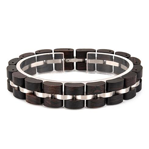 Luxury wood steel stainless bracelet fashion metal buckle chains dress <strong>accessories</strong> for women