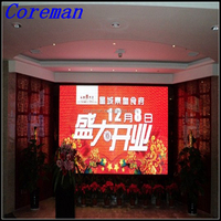slim aluminium cabnet stage decoration led curtain double faces led outdoor p4 p5 p6 p8