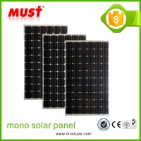 Germany solar world cell 250W 30V mono solar panel with outlet