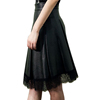 Italy design New fashion LEATHERETTE beautiful Black short skirt