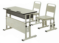 school furniture for double kids table and chair YB-129