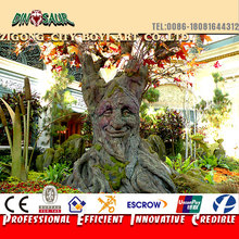 Entertainment interactive equipment animatronic talking tree for sale