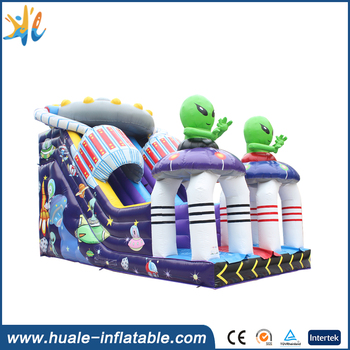 Huale alien theme bounce house inflatable jumper slide/inflatable jumpers for toddlers