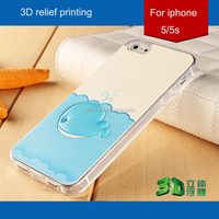 Phone cover for iphone 5s wholesalers 3D tpu case blue whale back Cover case cartoon phone case for iphone5/5s