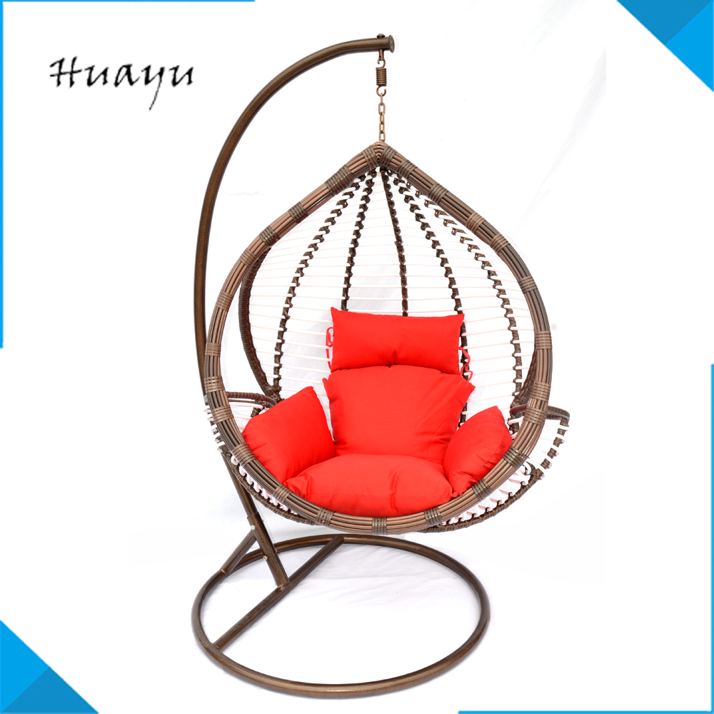 Modern outdoor indoor furniture hanging indoor swing chair hanging egg swing chair sofa with image stand wholesale