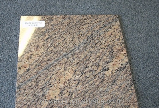 custom size giallo california granite/hot sale giallo granite colors