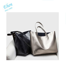 2018 popular oem new design mummy diaper tote bag leather shopping bag from Excellent Factory