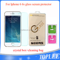 wholesale price!! for iphone 6 6s Tempered Glass Screen protector with crytal box