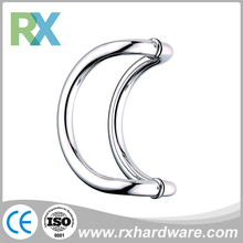 Round bar door handle stainless steel c-type