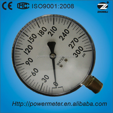 "4"" gas pressure gauge pressure measuring device bottom type CE certificate & ISO9001 plastic case pressure gauge"