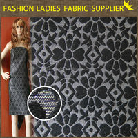 fashion ladies dress fabric 100% polyester cheap jacquard fabric for ready made curtain/home textile